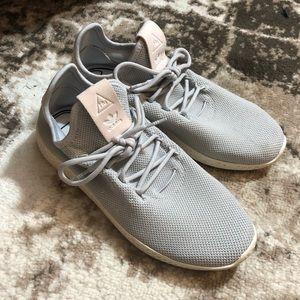 Pharrell Williams x adidas HU light blue sneakers